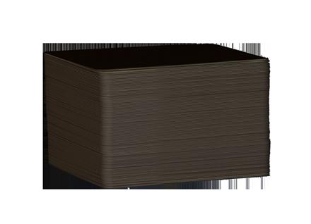 Black plastic cards at credit card format