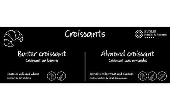 Buffet card croissant
