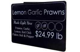 Sample Price tag card Seaside market